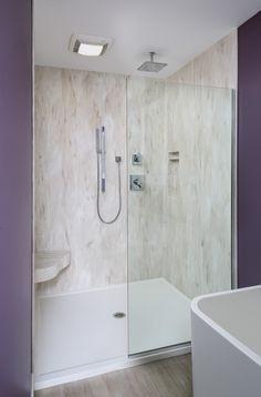 Built in Corian shower