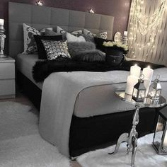 gray bedroom with pop of color ; gray bedroom ideas with pop of color ; gray bedroom ideas for couples ; Suites, Dream Rooms, Bedroom Inspo, Bedroom Inspiration Cozy, Bedding Inspiration, Bedroom Retreat, Beautiful Bedrooms, New Room, Luxury Bedding