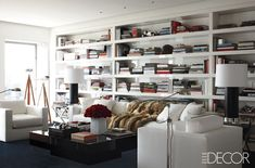 Odds are a fashion designer's home will be just as fabulous as their latest collection, and here are 24 photos to prove it. See how your favorite fashion designer's style carries into their home and what you can do to get the look. #home #interiordesign #fashion #fashiondesigners #designerhomes #hometour #homeinspo #decor #livingroom #bedroom #elledecor Living Room Modern, Living Room Decor, Living Spaces, Living Rooms, Home Renovation, Best White Paint, White Paints, Manhattan Apartment, York Apartment