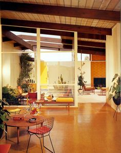 LOVE THIS mid century home!!!