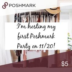 Hosting my first Posh Party! I'm very excited to announce that I will be hosting my first Poshmark party on 11/20 at 7pm PST! If you like and share this post I will check out your closet for potential host picks and to hand out a few shares while I browse! Madewell Other