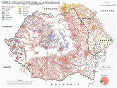 Ethnic map of Romania & neighbouring regions