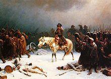 Napoleon leaving Russia
