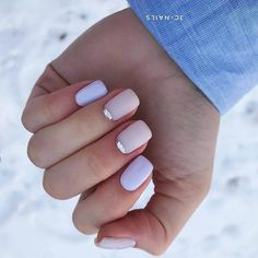 Accurate nails Delicate nails Half-moon nails ideas Ideas of gentle nails Multi-color nails Party nails Short half moon nails Spring nails 2019 Cute Acrylic Nails, Cute Nails, Gel Nails, Nail Art Design Gallery, Best Nail Art Designs, Spring Nail Colors, Spring Nails, American Nails, Moon Nails