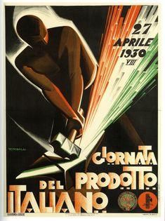 Italian Product Day | 1930;  Giuseppe Riccobaldi del Baza.