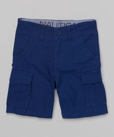 Another great find on #zulily! Tanzanite Ripstop Cargo Shorts - Boys by Nautica #zulilyfinds             19.99