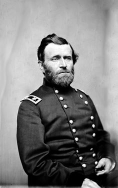 Major General Ulysses S. Grant, officer of the Federal Army, photographed by Mathew Brady