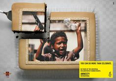 Print advertisement created by DDB, Hungary for Amnesty International, within the category: Public Interest, NGO.