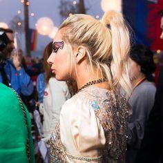 artpoppunk: Lady Gaga at the Tommy Hilfiger fashion show!