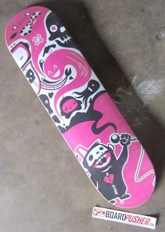 "You can pick up this Featured Deck of the day ""Surewood"" from the KewlButKreepy shop here www.BoardPusher.com/shop/kewtbutkreepy skate skateboard skateboards skateboarding sk8 art artist graphics monkey octopus cyclops"