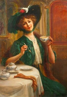 Emile Vernon Style and Grace - The Largest Art reproductions Center In Our website. Low Wholesale Prices Great Pricing Quality Hand paintings for saleEmile Vernon Vernon, Tee Kunst, Vintage Images, Vintage Art, Tea Hats, Contemporary History, Victorian Art, Victorian Ladies, French Artists