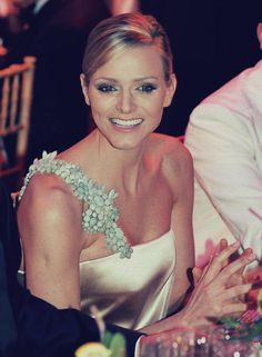 Princess Charlene with her new smile.....gorgeous....Bal de la Rose 2010