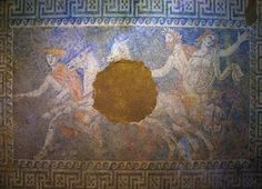 The Abduction of #Persephone by #Pluto, discovered in the now famous #Amphipolis #Tomb.