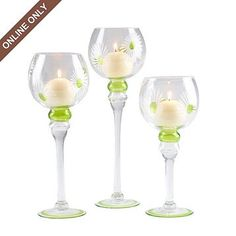 Kirkland's: Glass Daisy Charisma, Set of 3