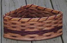 "Amish Handmade Large Corner Basket--CUSTOM COLORS AVAILABLE, $35, 11 1/4"" W x 8 3/4"" D x 4 1/2"" H"