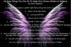 Crown Chakra - 10 Easy Things to keep the Chakra in balance. सु