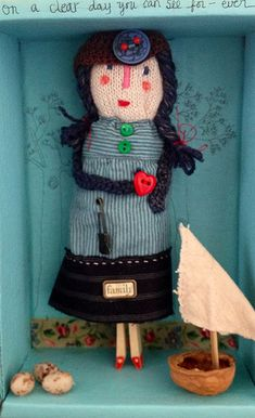 For Ida, Handmade Doll in Recycled Box