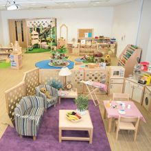 Carefully crafted to support, nurture and enhance children's learning and development. Classroom and nursery school classroom layouts. Montessori Classroom Layout, Preschool Classroom Layout, Eyfs Classroom, Preschool Rooms, Classroom Design, Toddler Classroom, Nursery Layout, Nursery Design, Nursery Room