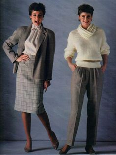 I'm pretty sure I wore the outfit on the right all fall in '85