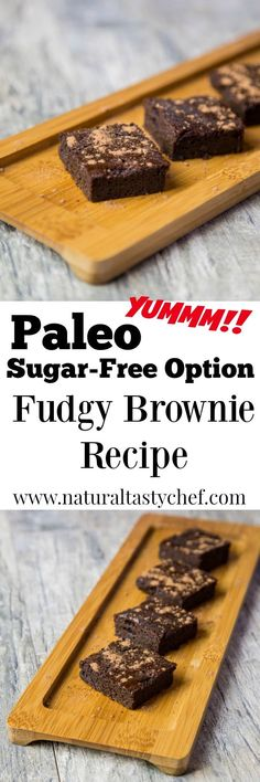 Healthy, Grain free brownies that are fudgy and delicious! With an anti-candida (sugar-free) option too! Paleo Dessert, Healthy Dessert Recipes, Whole Food Recipes, Delicious Desserts, Chef Recipes, Paleo Recipes, Diet Desserts, Healthy Snacks, Fudgy Brownie Recipe