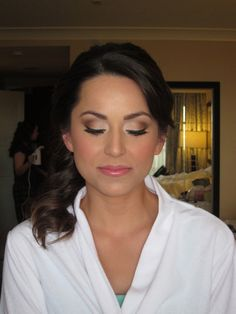 wedding make up- lighter on the eyes for me but love lips