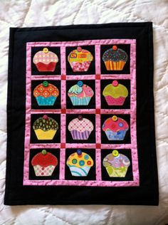 Cupcake Quilt / Wall Hanging / Doll Quilt by APhoenixTale on Etsy
