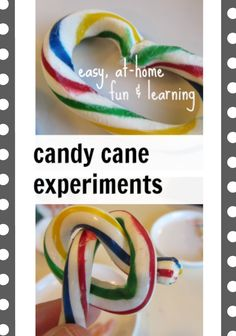 candy cane experiments: softening and reshaping candy canes degrees for minutes) Fun Experiments For Kids, Candy Experiments, Fun Activities For Kids, Science Activities, Science Education, Science Toys, Science Ideas, Activity Ideas, Physical Education
