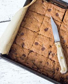 Spoiler alert: These blondies are made with quinoa.