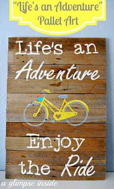 Love this pallet sign for summer!