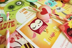 Valentine Cards Party & School Printables of Bag Toppers, Chocolate Labels, Gift Wrapping, DIY Paper Craft, with Editable Text 0106 Valentines Day Party, Valentine Day Cards, Printable Valentine, Party Printables, Printable Labels, Free Printables, School Parties, Paper Hearts, Cute Cards