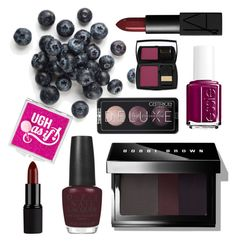 """Berry tones for Fall"" by janaehallinan ❤ liked on Polyvore featuring beauty, Bobbi Brown Cosmetics, NARS Cosmetics, OPI, Essie and Lancôme"