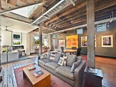 Warehouse turned home. I really like the industrial look...