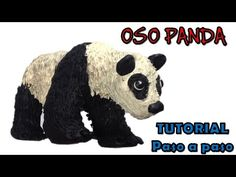 Como hacer un oso panda de plastilina / how to make a panda with clay - YouTube