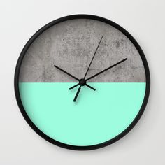Sea on Concrete clock by Cafelab