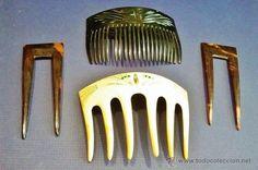 Antigüedades: Juego de 7 peinetas antiguas. - Foto 3 - 49767437