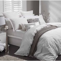 Medina White Quilt Cover Set by Logan & Mason Ultima