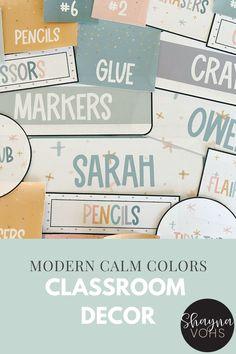 Classroom Jobs Display, Classroom Labels, Classroom Design, Classroom Themes, Classroom Organization, Classroom Layout, Calm Classroom, Modern Classroom, 5th Grade Classroom