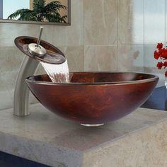 robinet cascade, verre trempé original