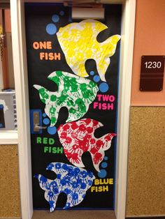 dr. seuss door contest | Dr. Seuss' Birthday - Door Decorating Contest - One Fish, Two ... | K ...