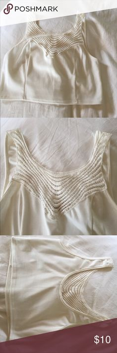 Cream Crop Top New Without Tags from Nordstrom Rack. Pretty detail on the front, with a swoop back. Same/next day shipping! Make me an offer! Nordstrom Rack Tops Crop Tops