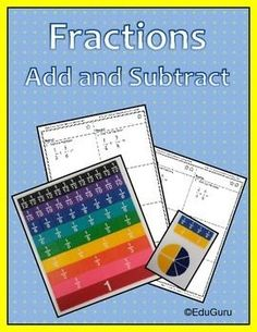 Teach your students fractions using a different approach that works! This product proofs that learning adding and subtracting of fractions can be fun!