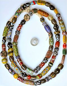 Antique Venetian Beads from the African Trade.