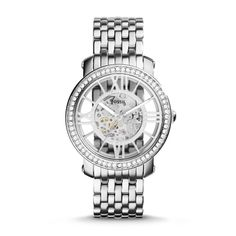 Why are all of the pretty things so expensive?  Fossil Curiosity Automatic Stainless Steel Watch
