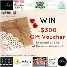 WIN a Handmade Love $300 Gift Voucher