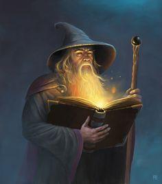 m Wizard Robes Hat Staff Magic Book Gandalf By Adam Brown Fantasy World, Fantasy Art, Mago Tattoo, Fantasy Wizard, Dnd Wizard, Book Wizard, Wizard Staff, Fantasy Witch, Jrr Tolkien