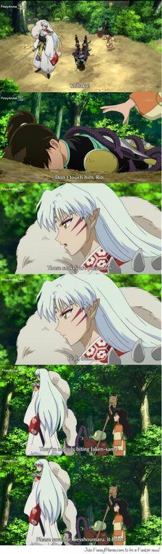 "Bad Luck Jaken  That needs to say ""Shesshoumaru-sama"" or ""Master Shesshoumaru""."