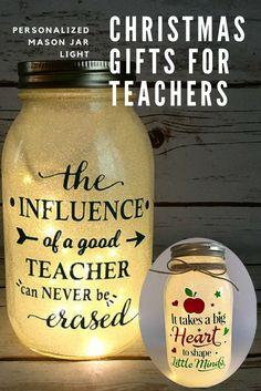 Christmas Gift for Teachers, Teacher Gifts, Teacher Gift, Nite Light, Teacher Christmas Gift, Gift, Personalized Teacher, Mason Jar Light
