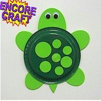 PAPER PLATE Turtle. A simple craft that is easy for the young kids. http://www.freekidscrafts.com