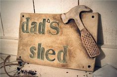 Ceramic Vintage Style Dad's Shed Sign by CherryPieLane on Etsy, £31.00