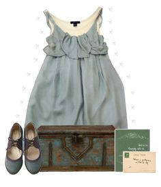 """""""i search for the stars"""" by smollbambi ❤ liked on Polyvore featuring vintage, dress, books and suitcase"""